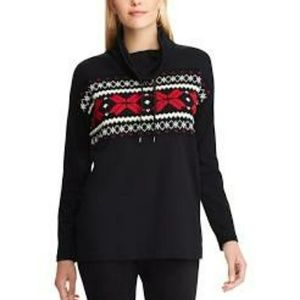 NWT Blk Cotton XXL Turtleneck Sweatshirt FirmPrice